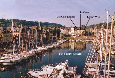 Location Honfleur : Situation appartements